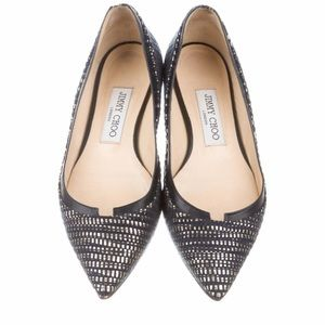 Navy and Gold Jimmy Choo flats